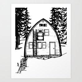 Elfin Lake Hut in the winter | Garibaldi Provincial Park, B.C. Art Print