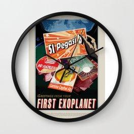 51 Pegasi b - NASA Space Travel Poster  Wall Clock