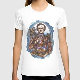 Mr. NeverMore (Edgar Allan Poe portrait) T-shirt