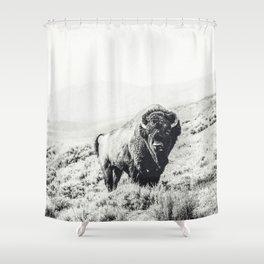 Nomad Buffalo Shower Curtain