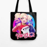 harley Tote Bags featuring HARLEY by Miaolait