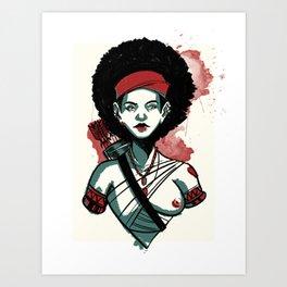 Amazon Woman - 2 Art Print