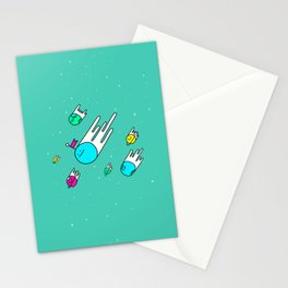 Race for the stars Stationery Cards