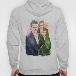 12th Doctor/Doctor Who/Peter Capaldi inspired Mixed Media Watercolor Portrait Hoody