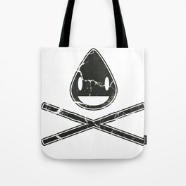 Cross-Staw Distressed Tote Bag