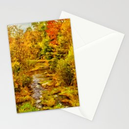 Autumn On The Ammonoosuc Stationery Cards