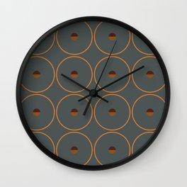 catch    anthracite & ocher Wall Clock