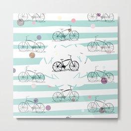 Bicycle pattern B1 Metal Print