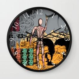 Pains of graffiti artist Wall Clock