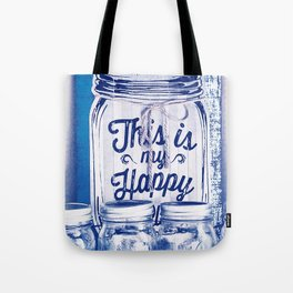This Is My Happy Place Vintage Sign Tote Bag