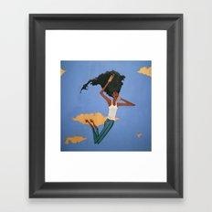 Floating Fro Man Framed Art Print