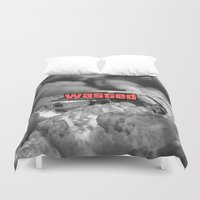 gta Duvet Covers featuring Wasted GTA by JOlorful