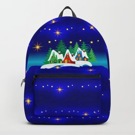 Christmas, Home for the Holidays Midnight Blue, Holiday Fantasy Collection Backpack