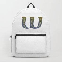 Celtic Knotwork Alphabet - Letter W Backpack