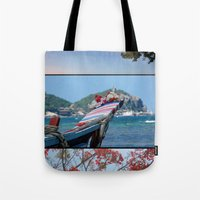 thailand Tote Bags featuring Rak Thailand by wetravelasequals