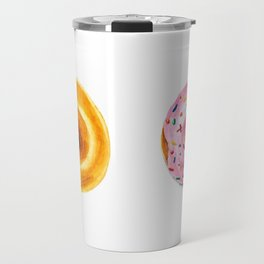 Two donuts in watercolor Travel Mug
