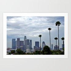 Cloudy Day in LA? Art Print
