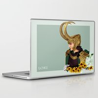 loki Laptop & iPad Skins featuring Loki by tsunami-sand