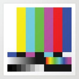 Colour Bars Art Print