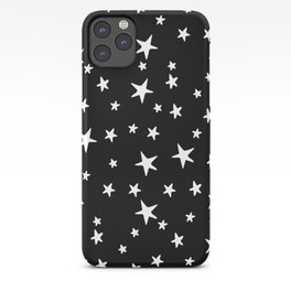 Stars - White on Black iPhone Case