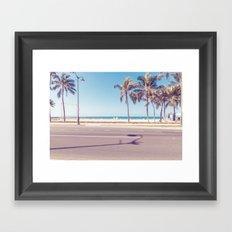 beach road Framed Art Print
