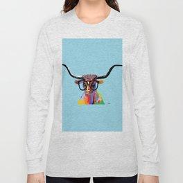 Hipster Longhorn Long Sleeve T-shirt
