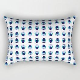 Blue Owl Pattern Rectangular Pillow