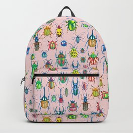 Colours of beetles pink Backpack