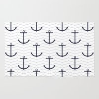 nautical Area & Throw Rugs featuring Nautical by Background Labs
