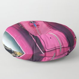 Pink Phone Booth Floor Pillow