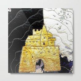 Fairy tale castle in yellow Metal Print