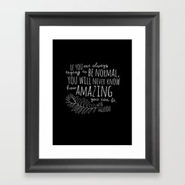 Inspirational Art Print // Maya Angelou Quote // How Amazing You Can Be Typographic Print // Modern Framed Art Print