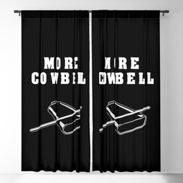More Cowbell Collection Blackout Curtain