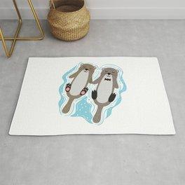 Otters in Love Sea Rug