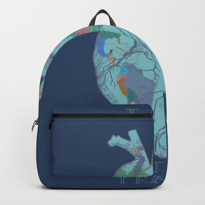 Love to travel world map 2 backpack by bekimart society6 love to travel world map 2 backpack gumiabroncs Images