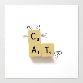 Cat Scrabble Canvas Print