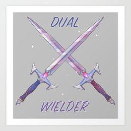 Dual Wielder Art Print