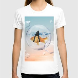 Shark Fin Goldfish in a Bubble T-shirt