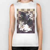 hetalia Biker Tanks featuring The Game of Checkmate by jali-jali