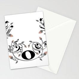 Music swirl Stationery Cards