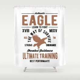authentic eagle Shower Curtain