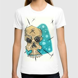 Retro Skull and Polka Dots T-shirt
