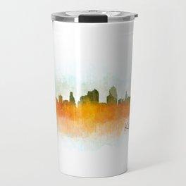 Kansas City Skyline Hq v3 Travel Mug