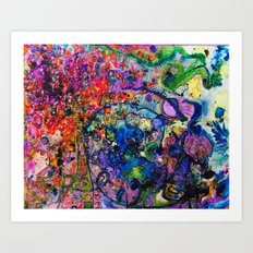 Youthful Discretions - Abstraction Improvisational Painting Art Print