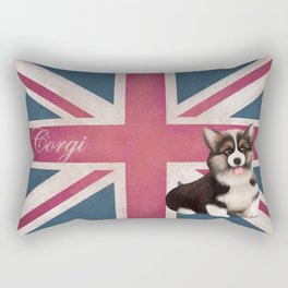 Royal Corgi Baby Rectangular Pillow