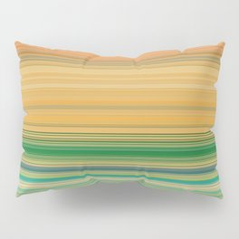yellow and green horizontal lin Pillow Sham