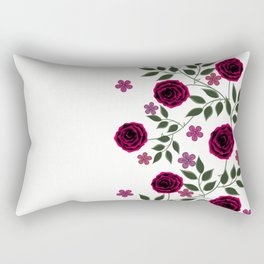 Bright red roses on a white background. Rectangular Pillow
