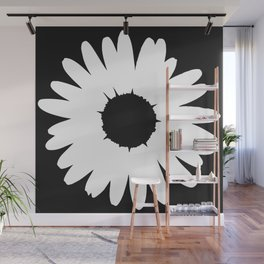 Black and White Daisy Wall Mural