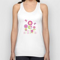 mod Tank Tops featuring MOD GARDEN by Daisy Beatrice