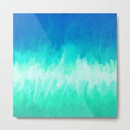 Blue Waterfall Abstract Metal Print